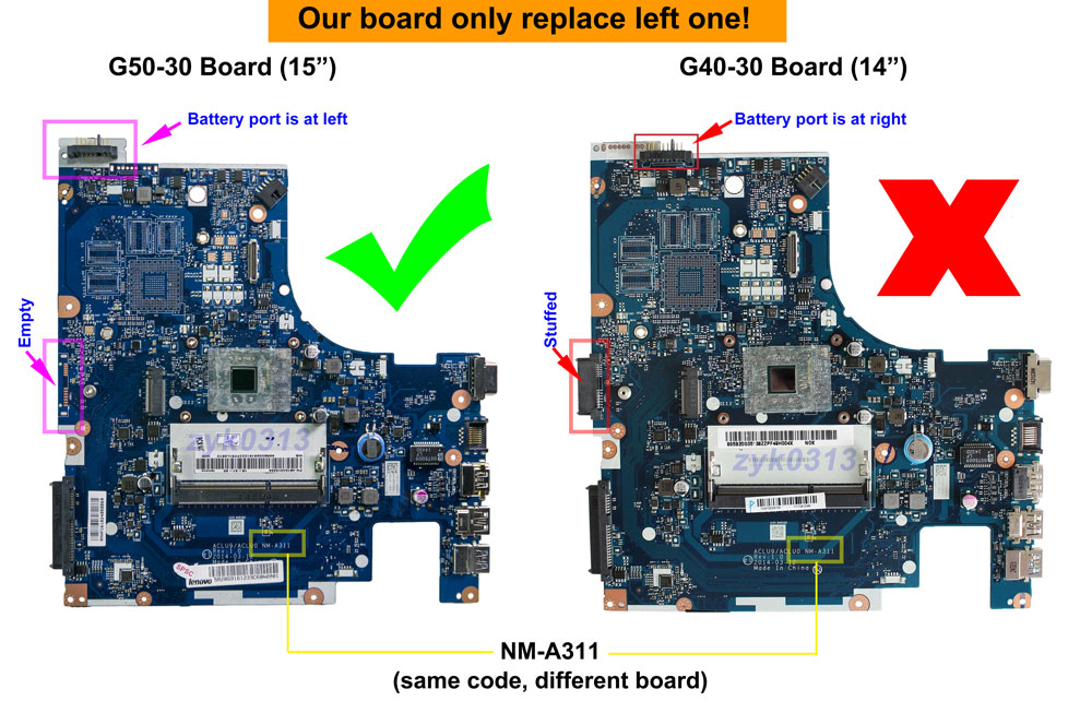 Details about Lenovo G50-30 Laptop ACLU9/ACLU0 NM-A311 Motherboard with  Intel N2840 CPU