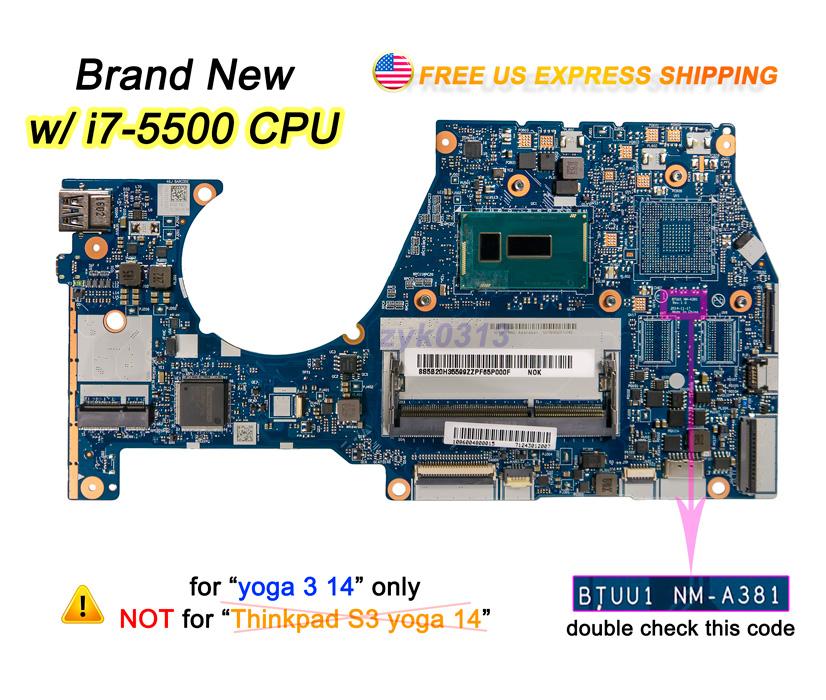 Lenovo Yoga 3 14 3 1470 Laptop BTUU1 NM-A381 i7-5500U 2 4Ghz